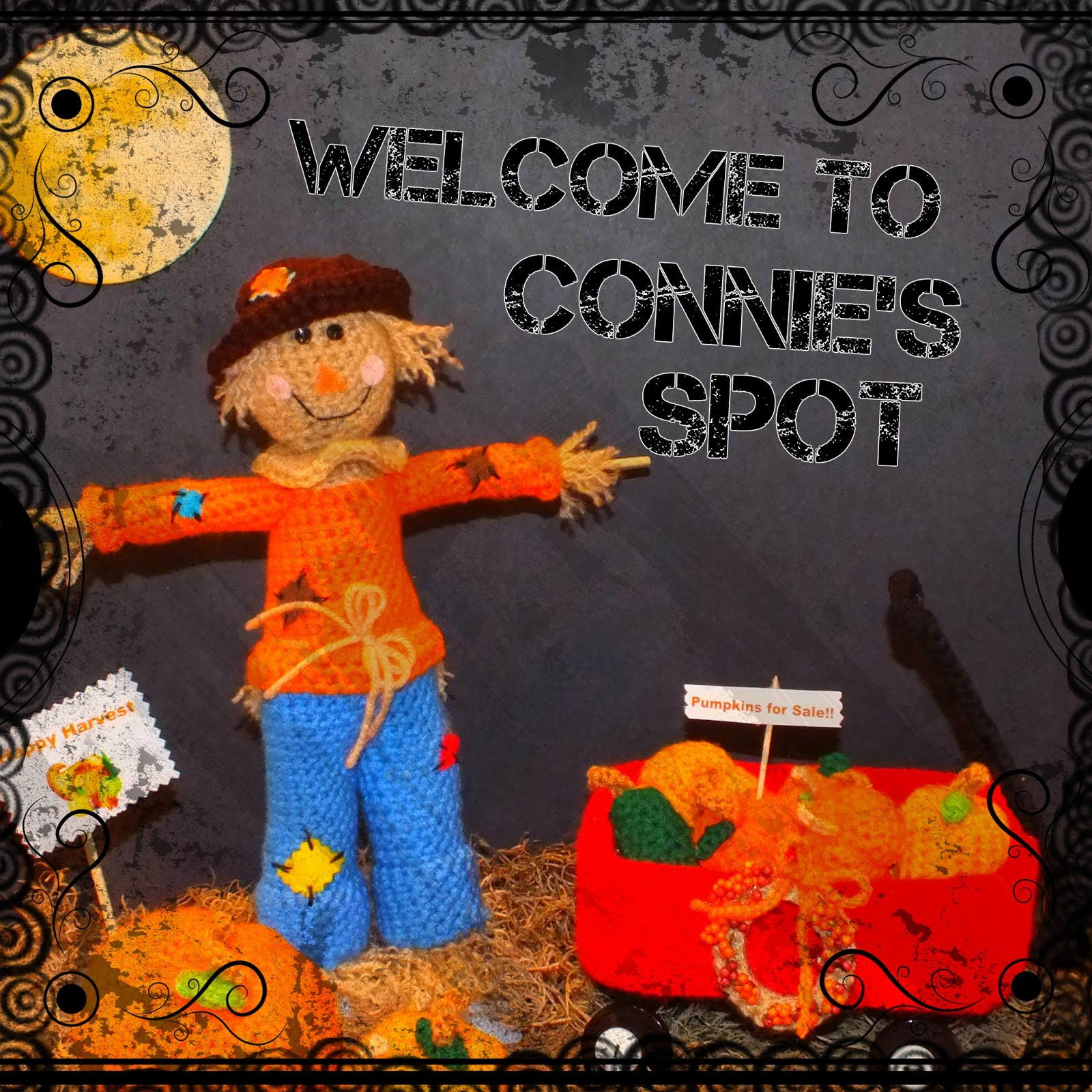 Harvest Scarecrow with Wagon & Harvest Wreath Pattern©