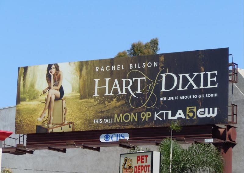 Rachel Bilson Hart of Dixie billboard