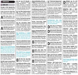 Lowongan kerja koran kompas Minggu 10 Maret 2013
