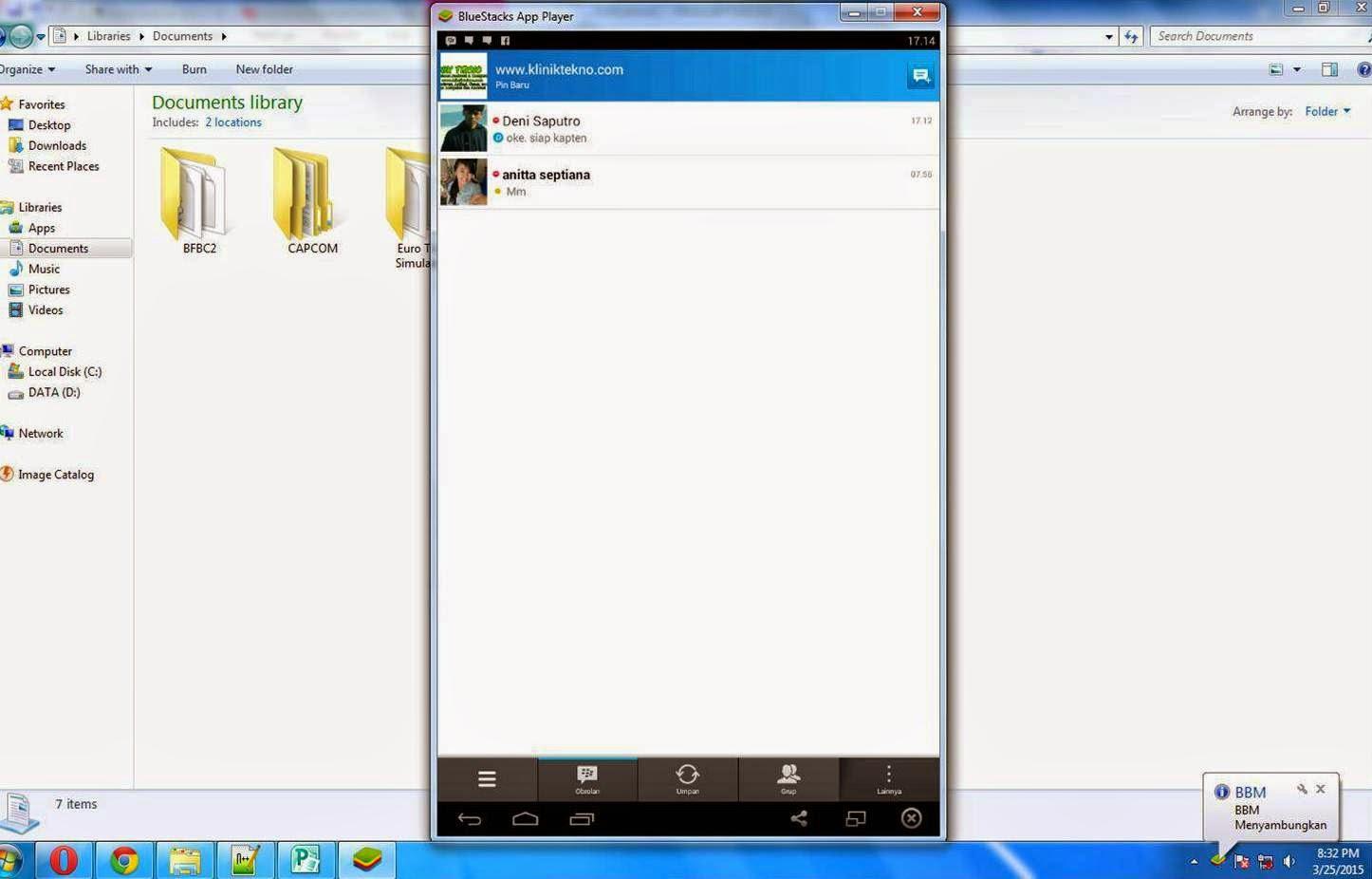 Cara Terbaru Instal Aplikasi BBM Android Di PC Atau Untuk Komputer dengan mudah dan simple
