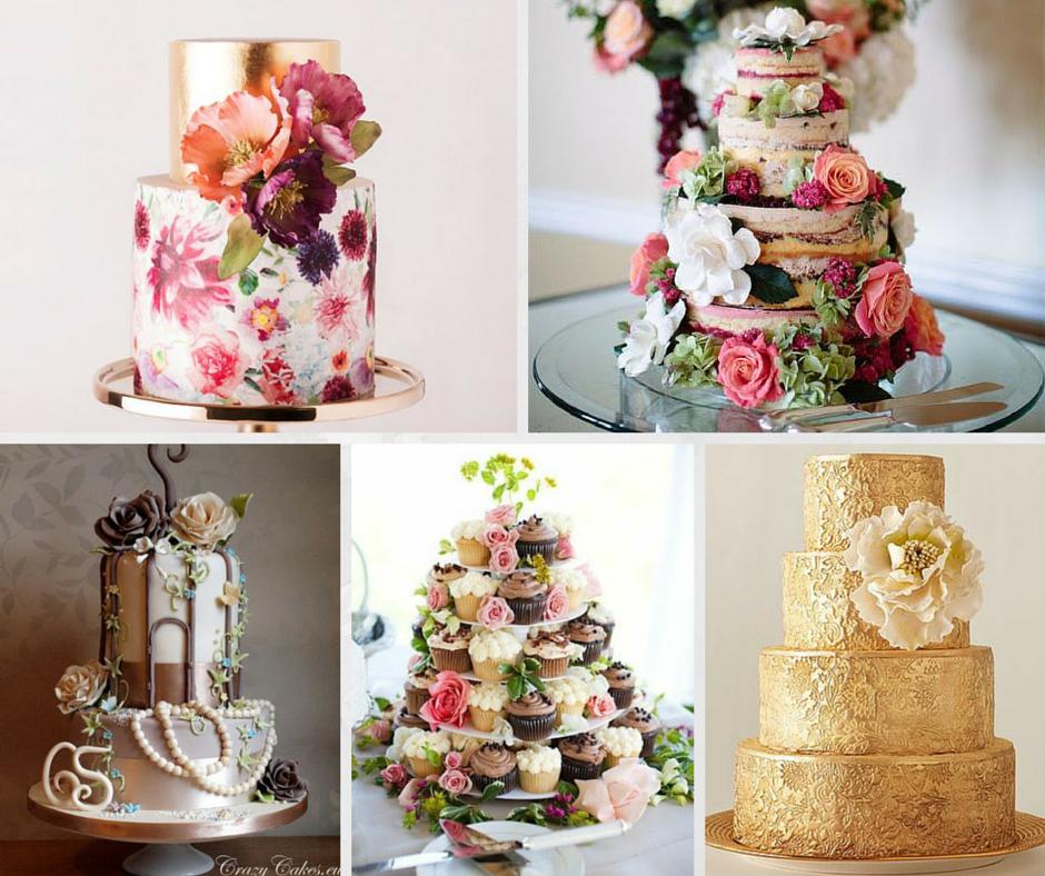 новите моди при сватбените торти