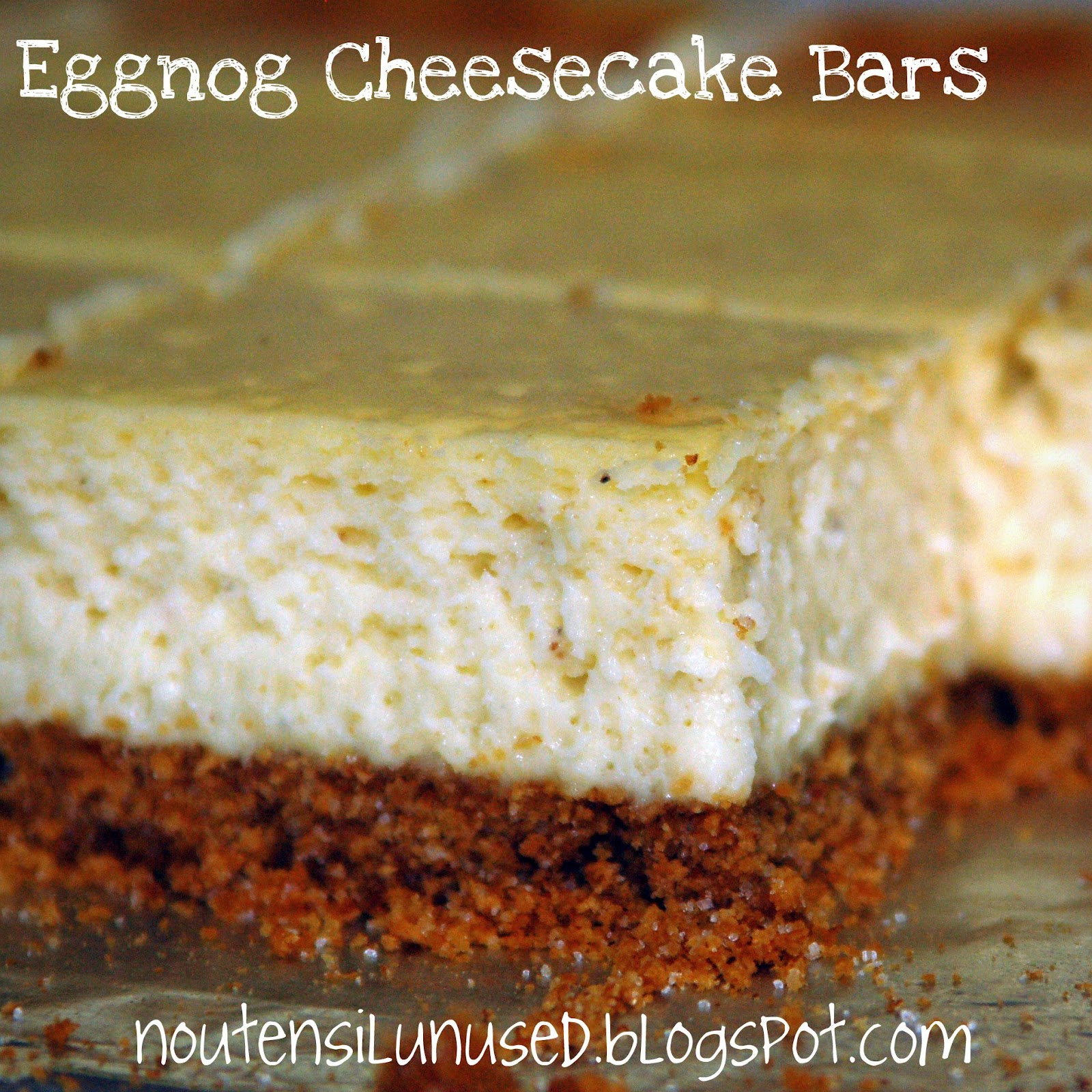 Eggnog Cheesecake Bars Recipe | No Utensil Unused