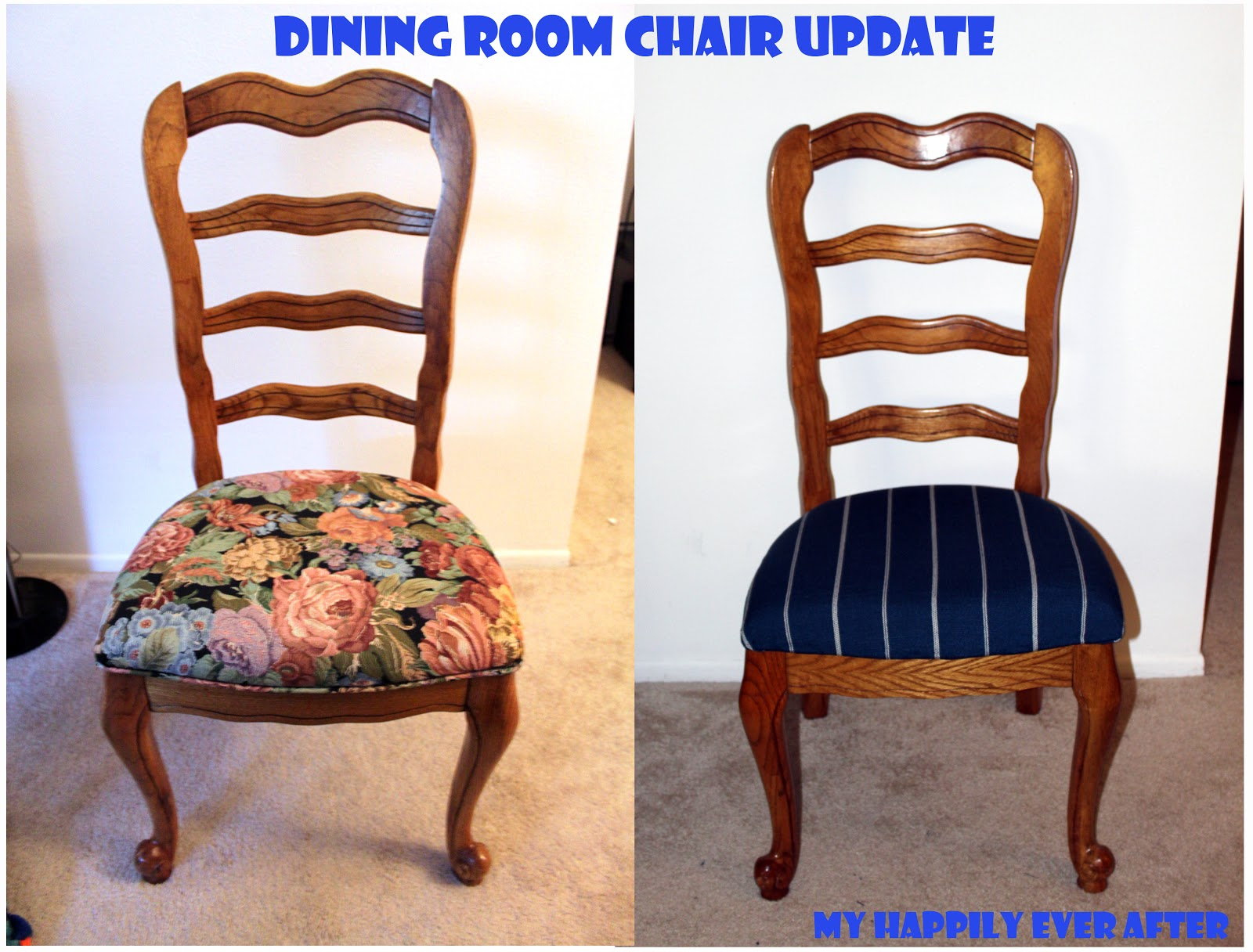 Happily Ever After Dining Room Chair Update Easy Tutorial. Shop Dining . Full resolution  img, nominally Width 1600 Height 1216 pixels, img with #142FB7.