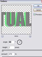 cara mudah membuat efek 3d pada hrup dan teks menggunakan aplikasi pjotoshop