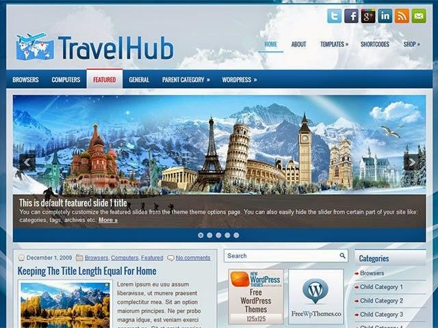 TravelHub - Free Wordpress Theme