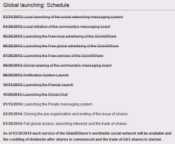 agenda launching globallshare
