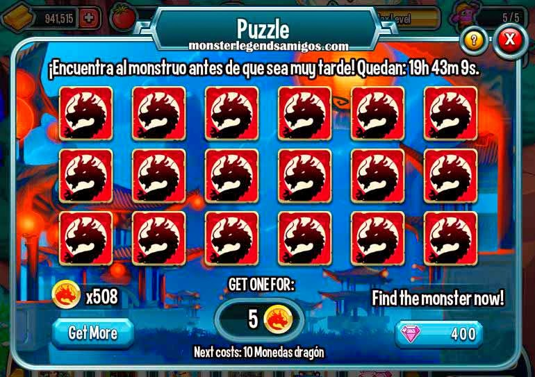 imagen del tercer puzle de la isla china de monster legends