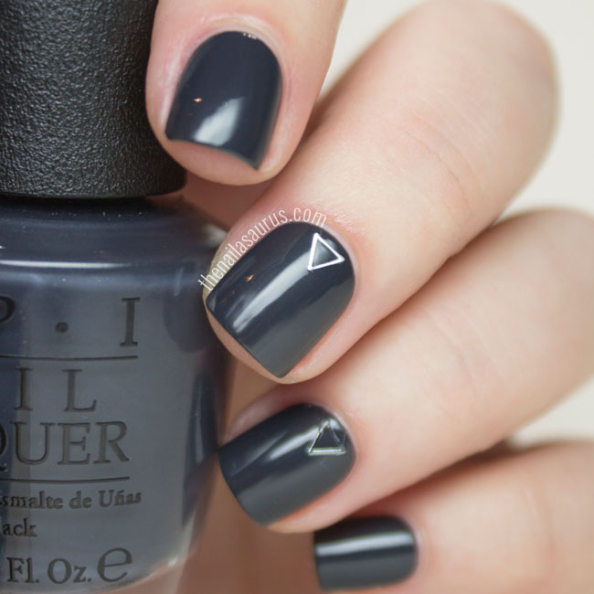 OPI 50 Shades of Grey Collection Dark Side of the Mood Swatch