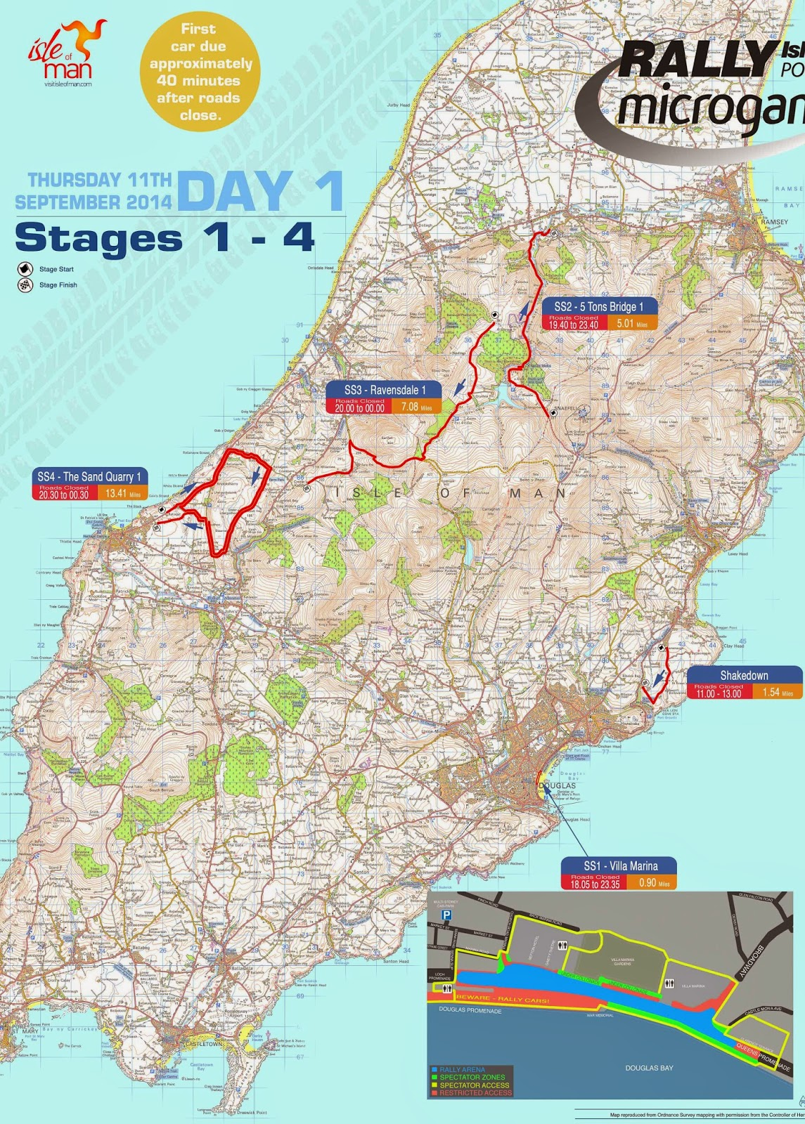 Rally Isle Of Man Stage Maps And Stage Times Manx Motorsport News - Isle of man map