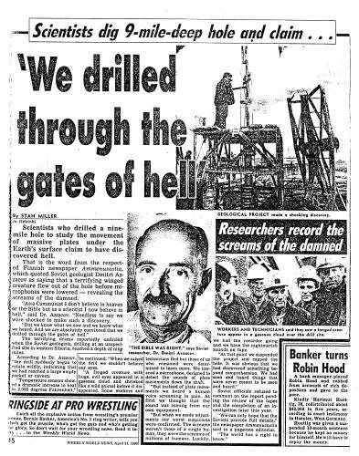 Boorden de Russen in 1990 naar de poort van de hel? 3