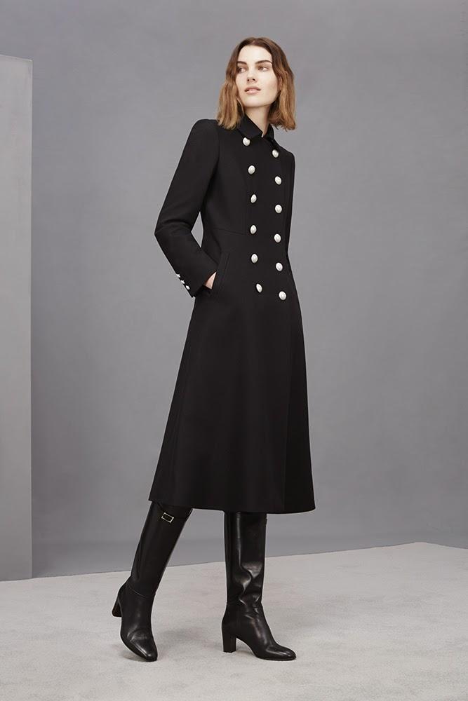 Hobbs navy Hampton Coat