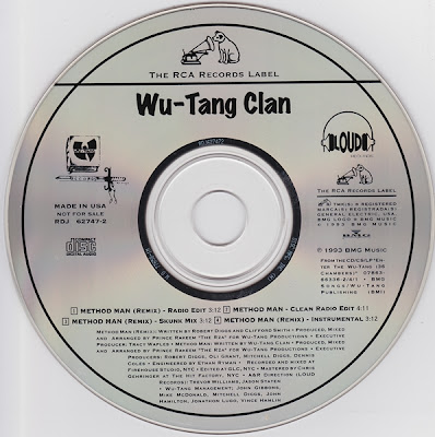 Wu-Tang Clan ‎– Method Man (Remix) (1993, CDS, 320)