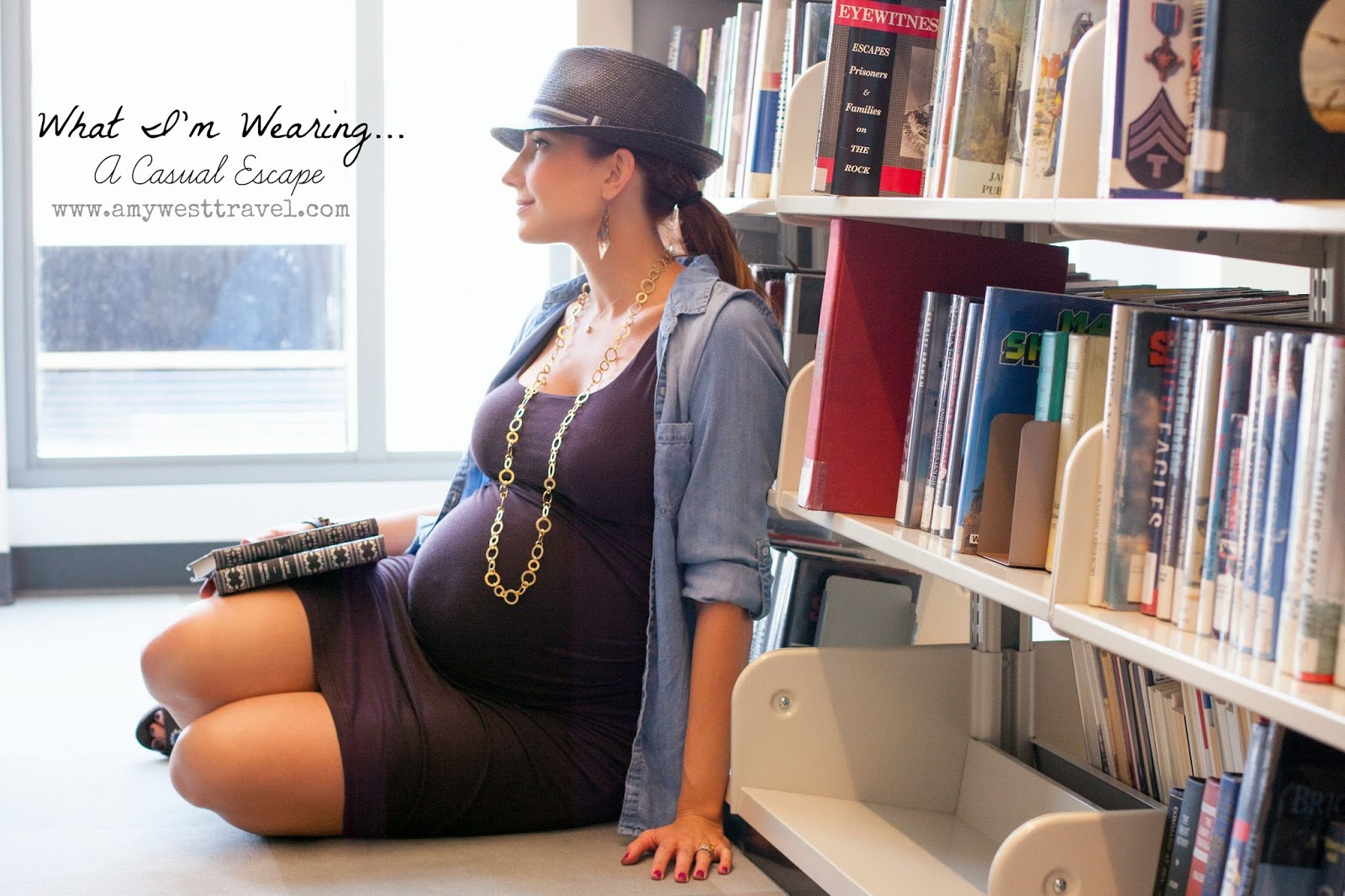 Amy West Fall Maternity Look