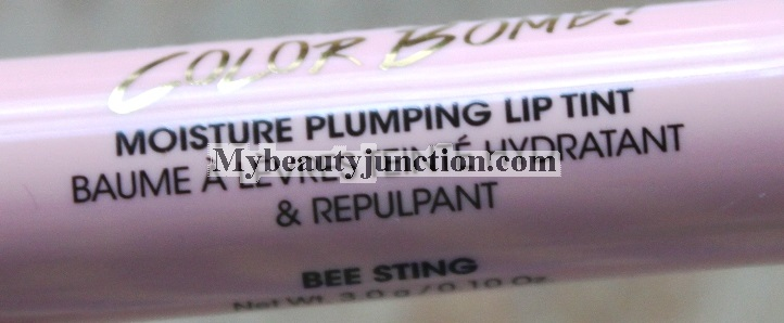 Too Faced Lip Injection Color Bomb review and swatches of Bee Sting