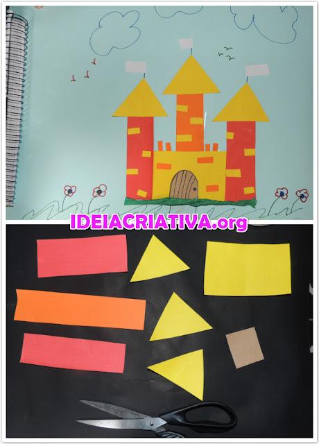 Formas Geométricas e Cores - Construção de Castelo