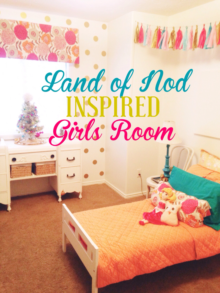 Land of Nod inspired girls room- Thestylesisters.blgospot.com