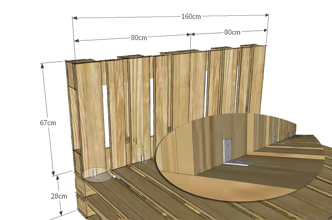 Costruire un letto con i pallet immagini ispirazione sul for Costruire un layout di casa