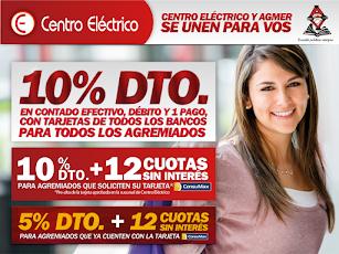 CENTRO ELÉCTRICO Y AGMER VILLAGUAY PROMO DEL MES, DESCUENTOS EXCLUSIVOS!