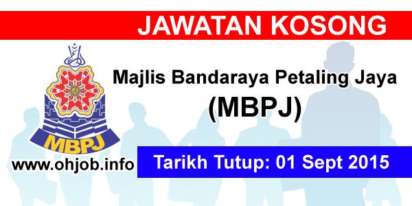 Jawatan Kerja Kosong Majlis Bandaraya Petaling Jaya (MBPJ) logo www.ohjob.info september 2015