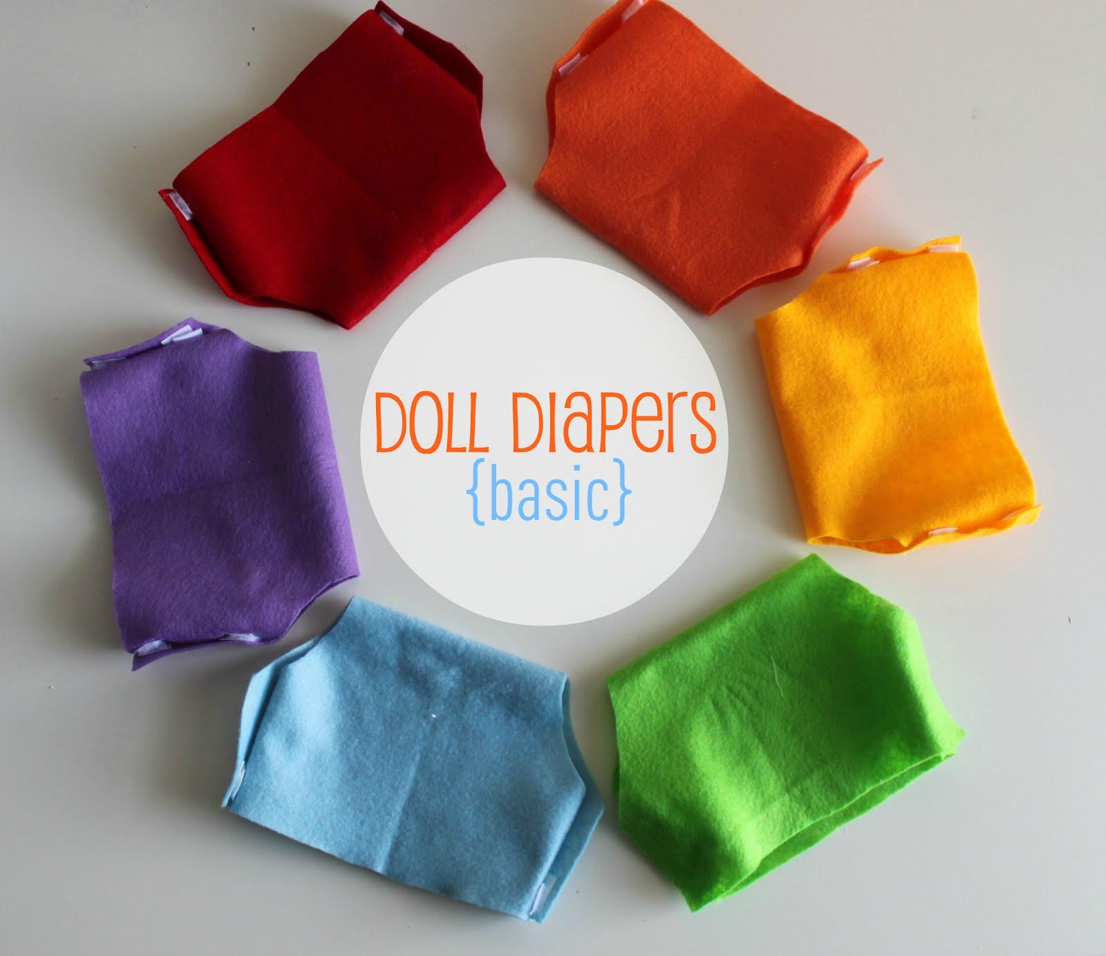 EAT+SLEEP+MAKE: CRAFT: Doll Diapers (Basic)