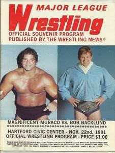 Magnificent Muraco vs. Bob Backlund WWF Championship 1981