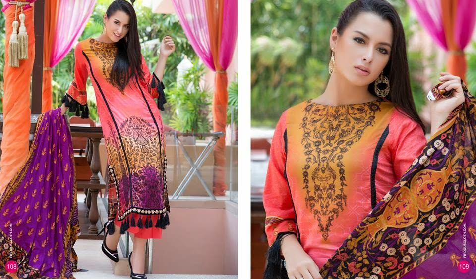 firdous summer long dresses collection