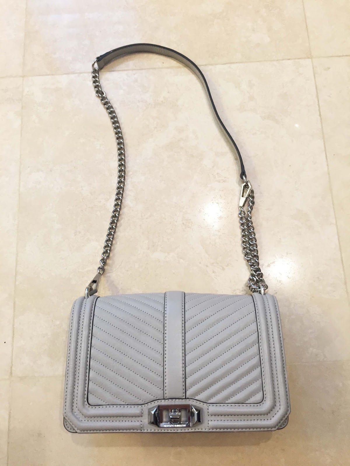 Visit Clearance Popular Rebecca Minkoff chevron quilted 'Love' bag Enjoy For Sale Cheap Sale Supply Factory Outlet Cheap Price X7fywxm