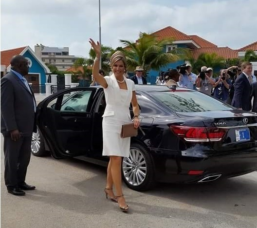 Queen Maxima and King Willem-Alexander of the Netherlands visited Sail Aruba 2015 on the island of Aruba