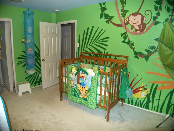 Id e d co chambre b b jungle b b et d coration - Deco chambre bebe jungle ...