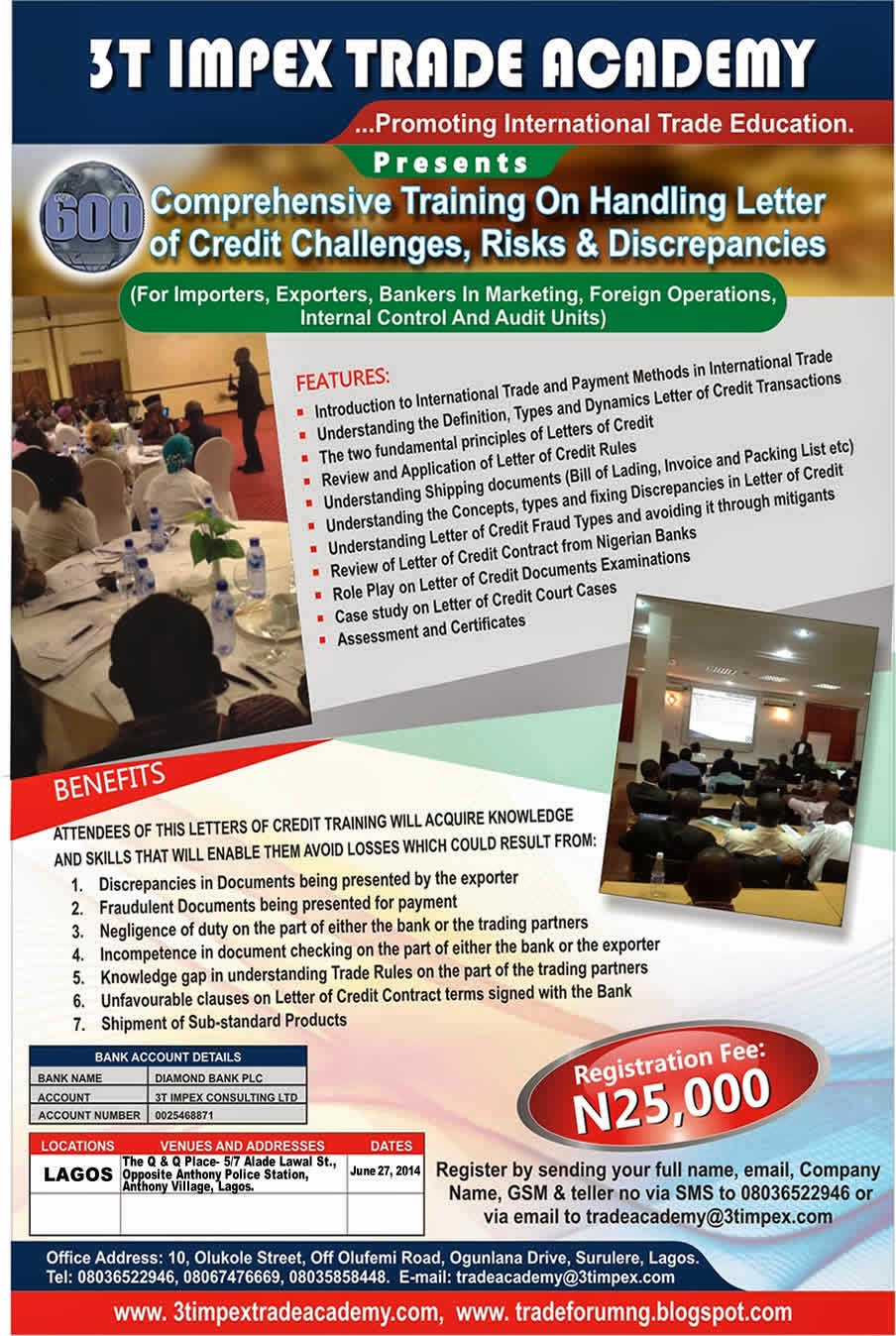 Nigeria to export ceramic tiles official premium times nigeria - Comprehensive Training On Letter Of Credit