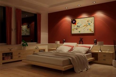 Mi casa mi hogar dormitorios matrimoniales en rojo - Combinar colores paredes dormitorio ...