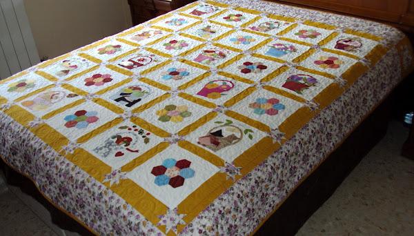 Cubre cama aprender manualidades es - Como hacer colchas de patchwork ...