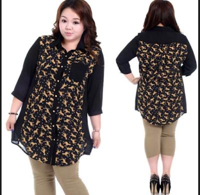Model Baju Atasan Batik Untuk Orang Gemuk