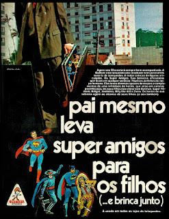 brinquedos Gulliver; super heróis; Batman; Super Homem; Zorro; Bat girl; Jerônimo; Billy the Kid; anos 70; propaganda; brinquedos anos 70; reclame anos 70; brazil; in the 70's; oswaldo hernandez