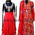 Mirchi Red Silk Velvet Salwars