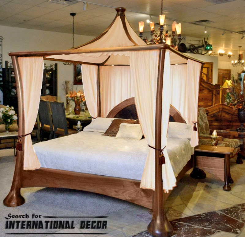 four poster bed canopy, canopy bed, romantic bedroom, unique canopy