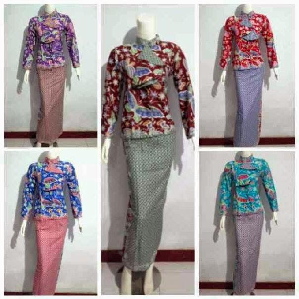 Baju Batik Setelan Pramugari Kupu Panjang   Toko Grosir ...