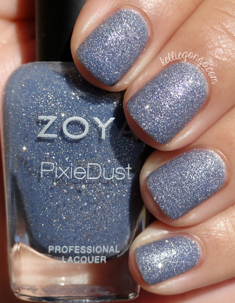 KellieGonzo: Zoya PixieDust Spring 2013 Collection Swatches & Review