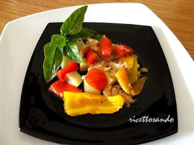Tiella di peperoni e patate