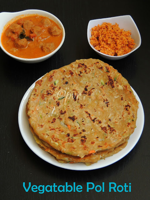 Vegetable pol Roti