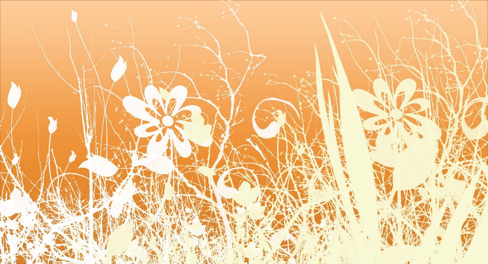 adela watkins orange flower wallpaper