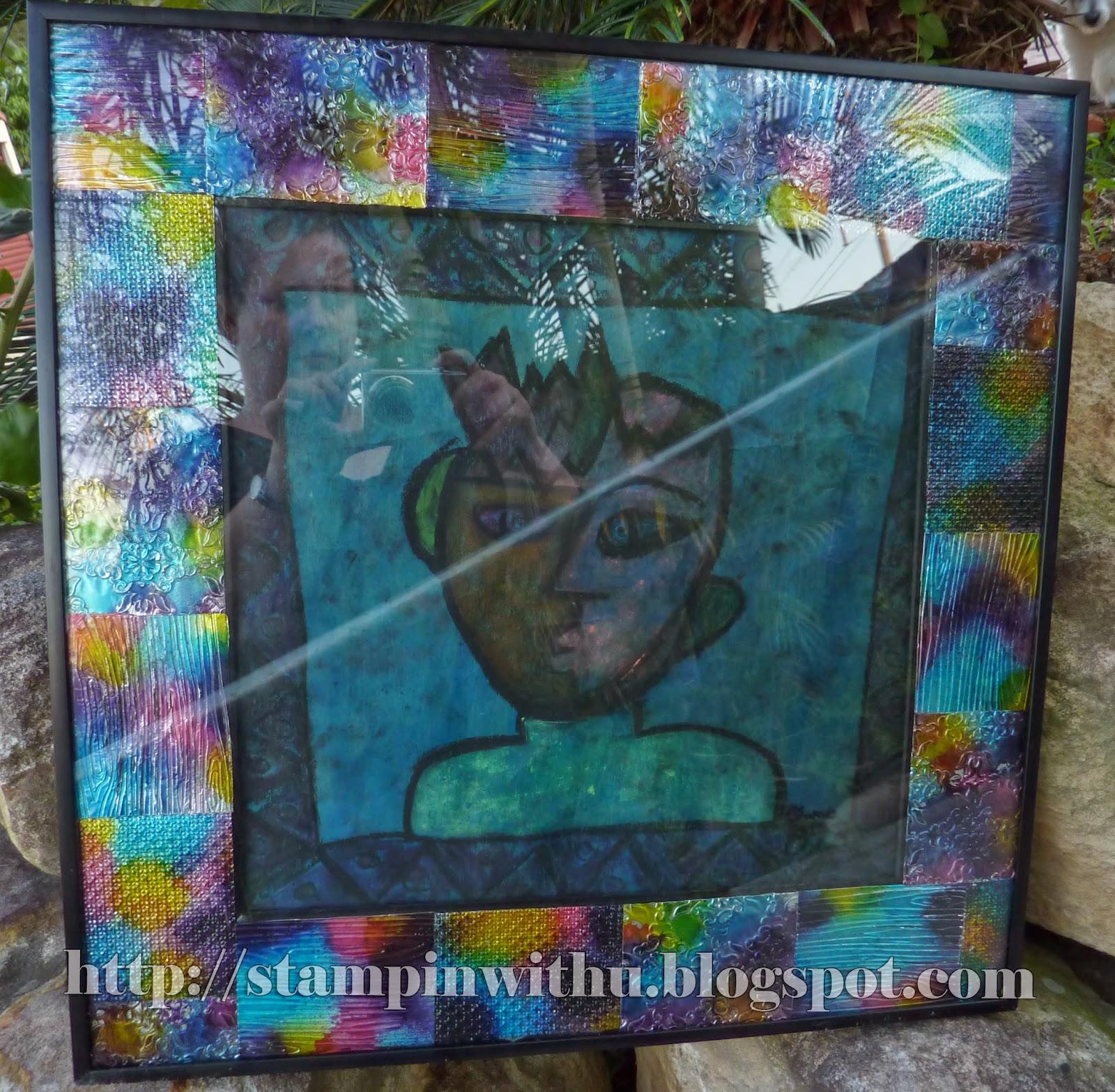Coloured Foil Frame Finished