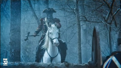 Headless Horseman Sleepy Hollow ax red coat mask pictures