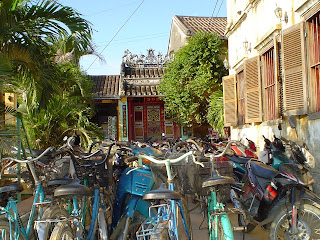Motorcycles in Hoi An, Vietnam