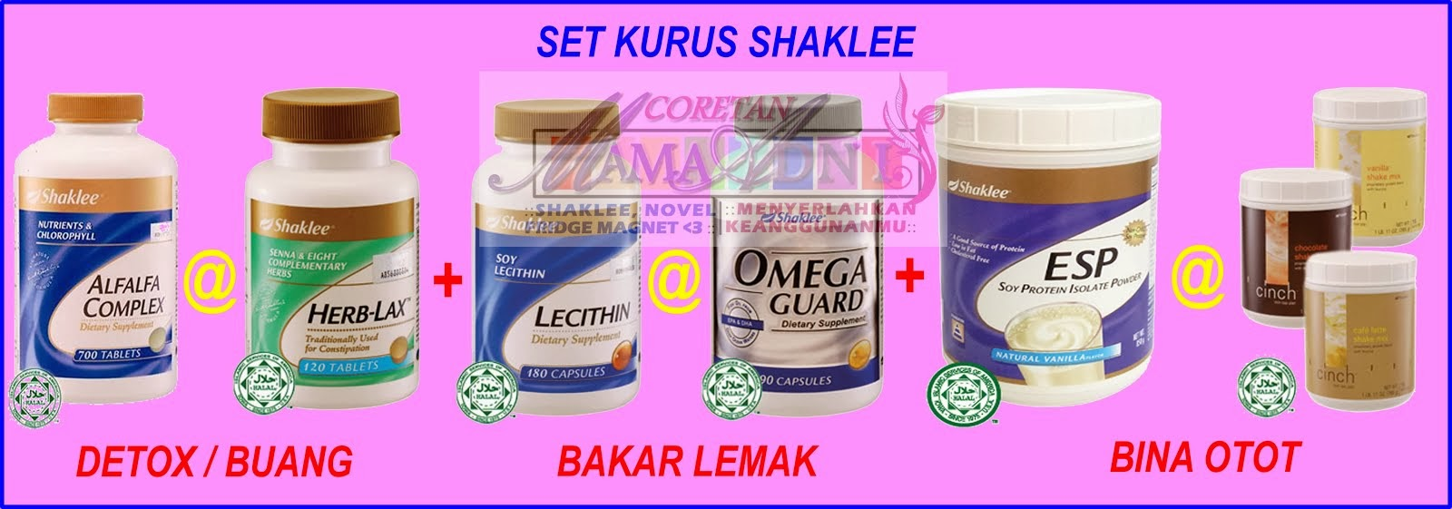 Set Kurus Shaklee Yang Superb