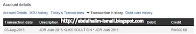 komisen Affiliate JDR bulan Julai 2015