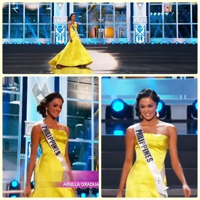 Ariella Arida elegant in her yellow evening gown