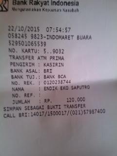 Bukti transfer pembayaran jersey Persija NET TV di enkosa sport toko online terpercaya lokasi di jakarta pasar tanah abang