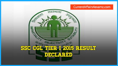 SSC CGL 2015 Tier 1 Results