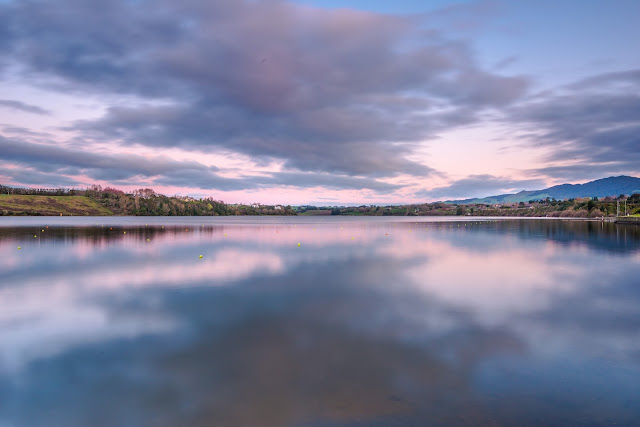Pink hues sunset Lake Karapiro